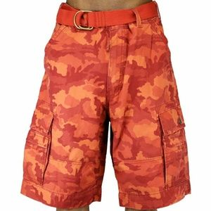 Levi's Sz 42 CARGO Shorts Orange Camo